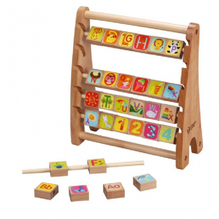 Classic World Wooden Alphabet Abacus